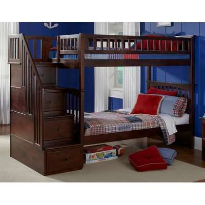 Henry Bunk Bed Configuration: Twin over Full, Finish: Antique Walnut
