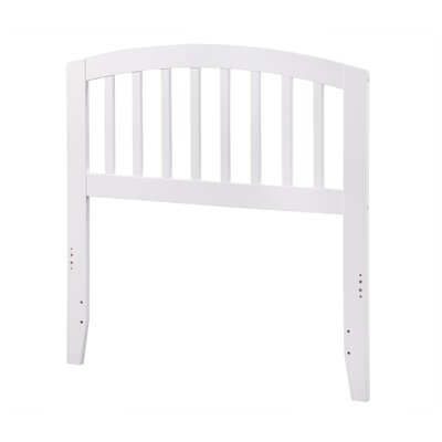 Timmy Slat Headboard Color: White, Size: Twin
