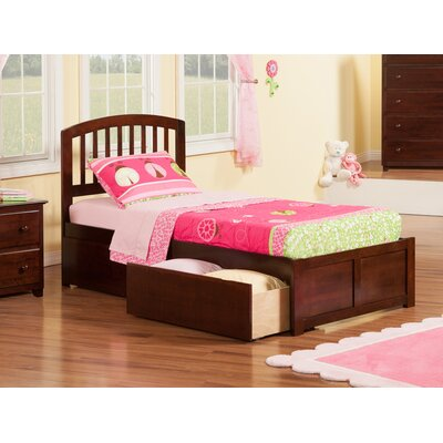 Timmy Extra Long Twin Slat Bed with Storage Finish: Antique Walnut