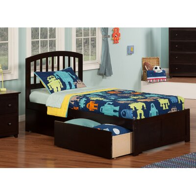 Timmy Extra Long Twin Slat Bed with Storage Finish: Espresso