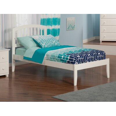 Timmy Extra Long Twin Slat Bed Finish: White