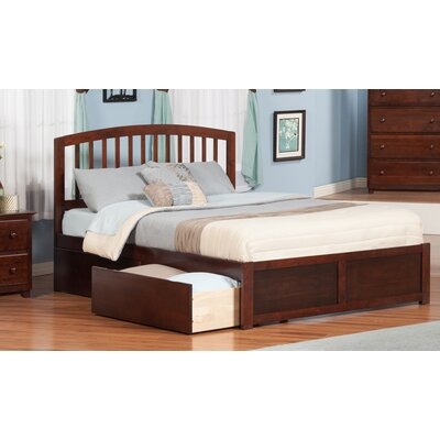 Timmy King Platform Bed with Drawer Finish: Antique Walnut