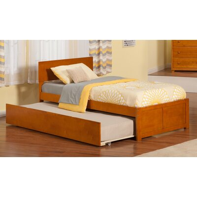 Greyson Panel Bed with Trundle Finish: Caramel Latte, Size: Full