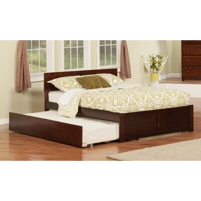 Greyson Platform Bed with Trundle Color: Espresso, Size: Full