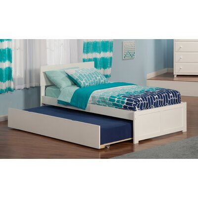 Greyson Panel Bed with Trundle Size: Twin, Finish: White