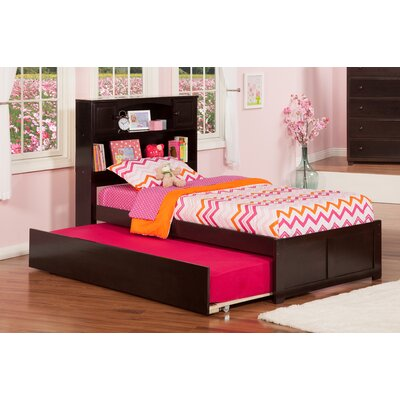 Greyson Platform Bed with Trundle Size: Twin, Finish: White