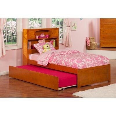 Greyson Platform Bed with Trundle Color: Caramel Latte, Size: Twin