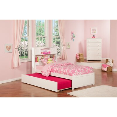 Greyson Platform Bed with Trundle Color: White, Size: Twin