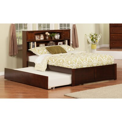 Greyson Platform Bed with Trundle Finish: Antique Walnut, Size: Full