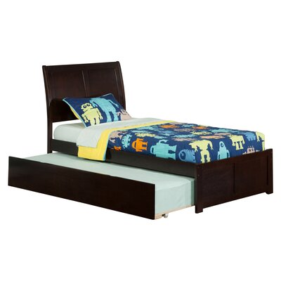 Greyson Sleigh Bed with Trundle Size: Twin, Finish: Caramel Latte