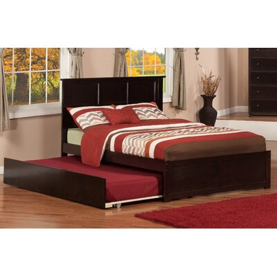 Greyson Platform Bed with Trundle Size: Twin, Finish: Espresso