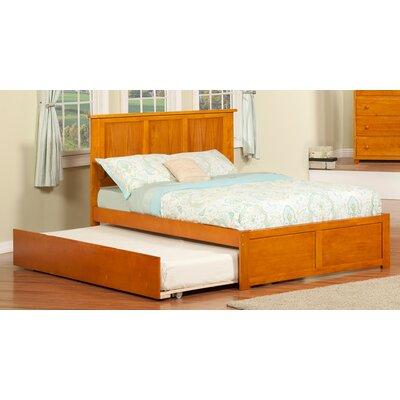 Greyson Platform Bed with Trundle Color: Caramel Latte, Size: Full
