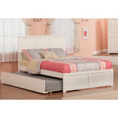 Greyson Platform Bed with Trundle Color: White, Size: Full