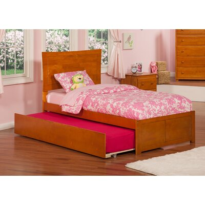 Greyson Platform Bed with Trundle Color: Caramel Latte, Size: Twin