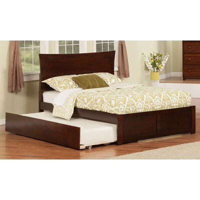 Greyson Platform Bed with Trundle Size: Full, Finish: White