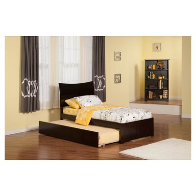 Greyson Sleigh Bed with Trundle Finish: Espresso, Size: Twin