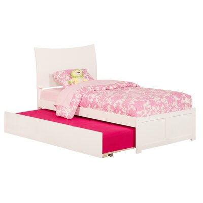 Greyson Sleigh Bed with Trundle Finish: White, Size: Twin