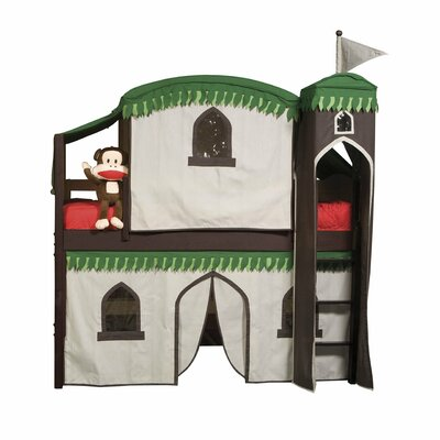 Bonneau Twin Low Loft Bed with Tower Finish: Cherry, Configuration: with Tent and Slide