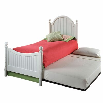 Davie Four Poster Bed with Trundle Color: Off-White