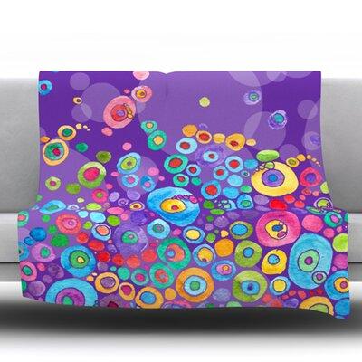 Inner Circle Ultra Microfiber Fleece Blanket Size: 40 H x 30 W, Color: Purple