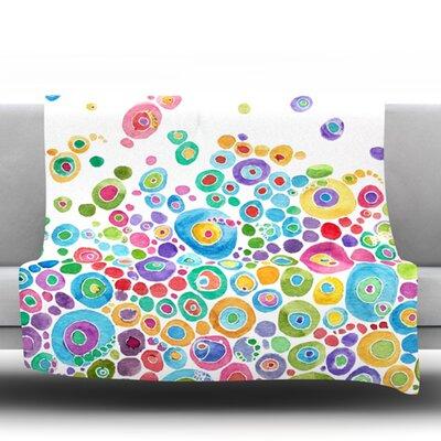 Inner Circle Ultra Microfiber Fleece Blanket Size: 80 H x 60 W, Color: White