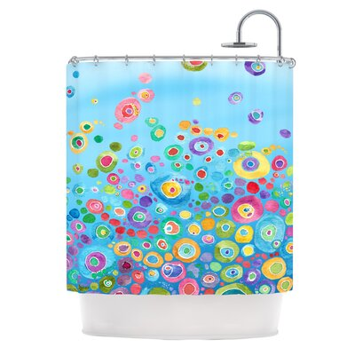 Waterproof Shower Curtain Color: Blue