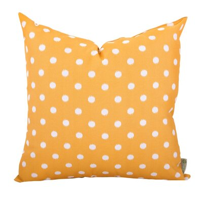 Telly Indoor/Outdoor Throw Pillow Fabric: Orange, Size: Large