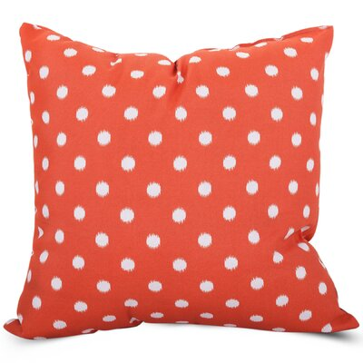 Telly Indoor/Outdoor Throw Pillow Size: Large, Fabric: Orange