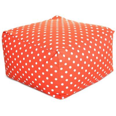 Telly Ottoman Fabric: Orange