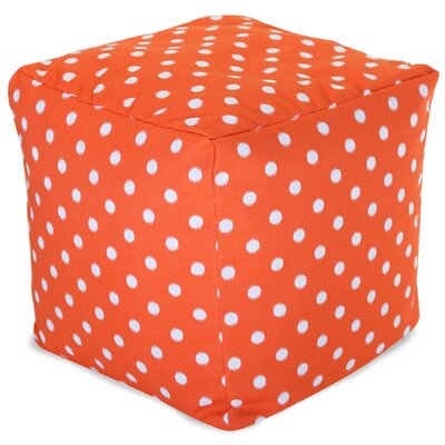 Telly Ottoman Fabric: Orange