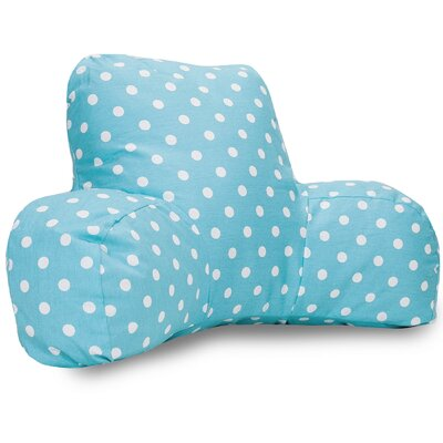 Telly Cotton Bed Rest Pillow Color: Aquamarine