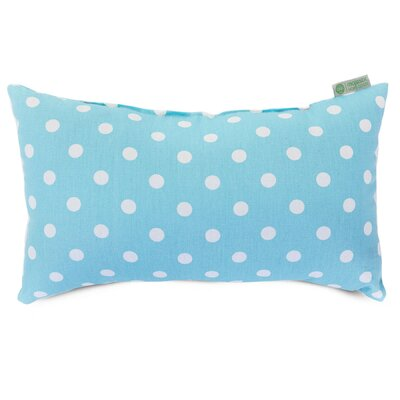 Telly Polyester/Polyester blend Small Lumbar Pillow Color: Aquamarine