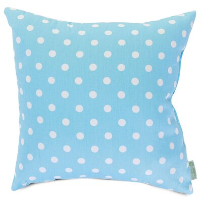 Telly Polyester/Polyester blend Small Throw Pillow Size: Large, Color: Aquamarine