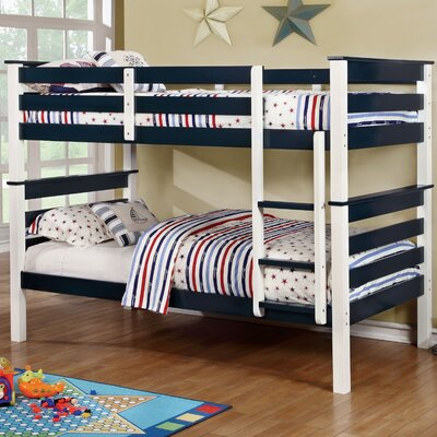 Lizzy Twin Bunk Bed Color: Blue