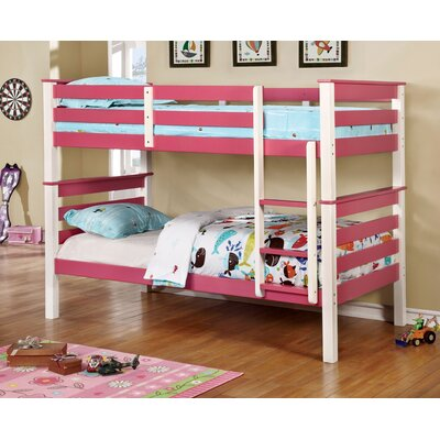 Lizzy Twin Bunk Bed Color: Pink