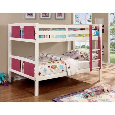 Rachel Bunk Bed Size: Full/Full, Color: Pink