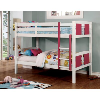 Rachel Bunk Bed Size: Twin/Twin, Color: Pink