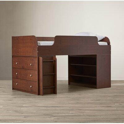 June Panel Bed with Ladder and Dresser Finish: Resort Cherry