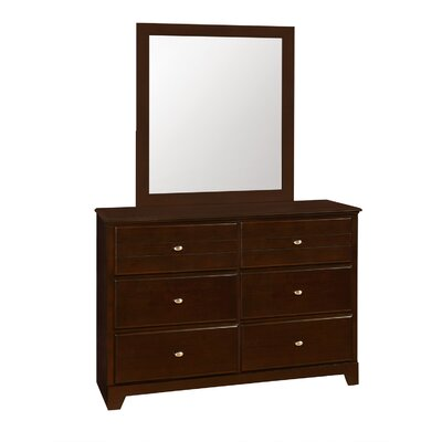 Skylar 6 Drawer Dresser Finish: Cappuccino