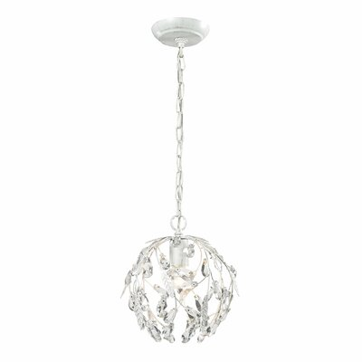 Eloise 1-Light Mini Pendant Finish: Antique White