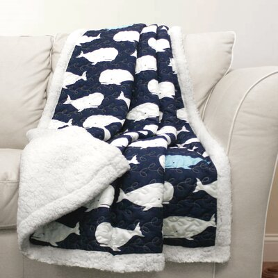 Finley Throw Blanket Color: Navy