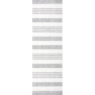 Serina Hand-Loomed Gray Area Rug Rug Size: Runner 26 x 8