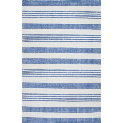 Serina Loomed Blue/Cream Area Rug Rug Size: Rectangle 76 x 96