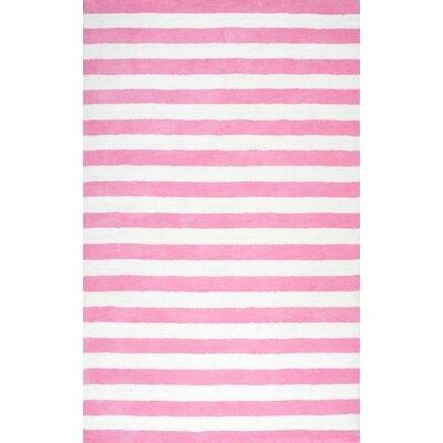 Allison Hand-Tufted Pink Area Rug Rug Size: 5 x 8