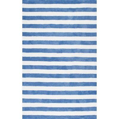 Allison Hand-Tufted Blue Area Rug Rug Size: 5 x 8