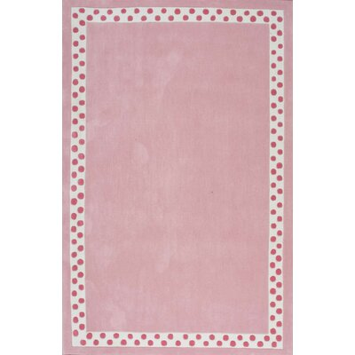 Audrey Pink Area Rug Rug Size: 36 x 56