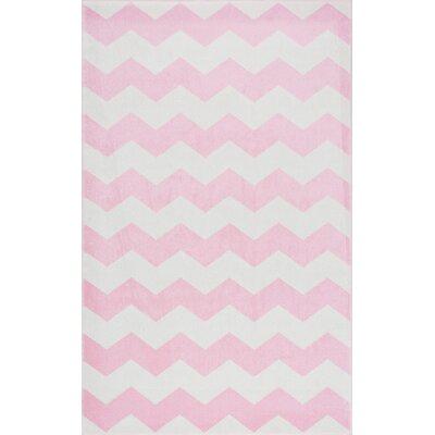Rowan Pink Area Rug Rug Size: 53 x 77