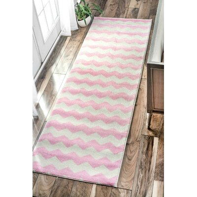 Rowan Pink Area Rug Rug Size: Rectangle 28 x 8