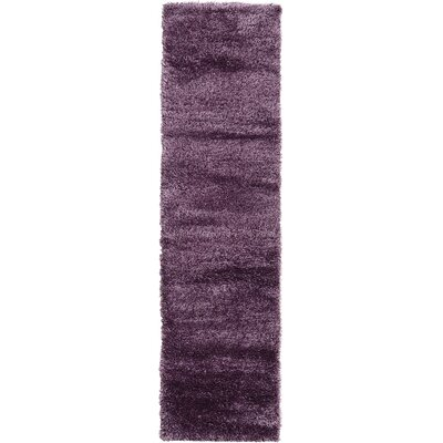 Evelyn Fig Purple Area Rug Rug Size: Runner 27 x 10