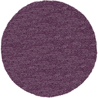 Evelyn Fig Purple Area Rug Rug Size: Round 8